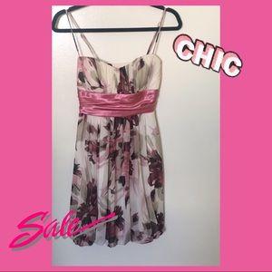 Floral Mini Pink Dress